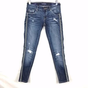 Vigoss/The Jagger/Skinny/Embroidered/Distressed/25
